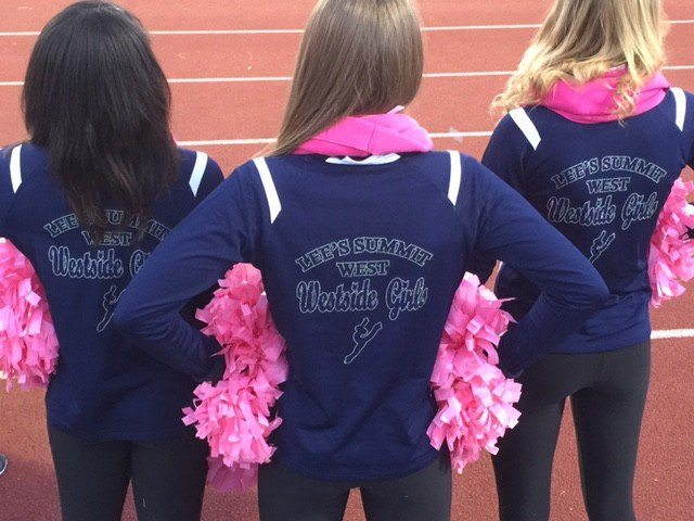 Lee's Summit Cheer team warm up jackets