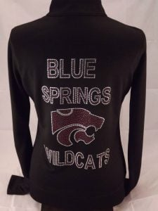 Blue Springs Wildcats Custom Warmup Jacket