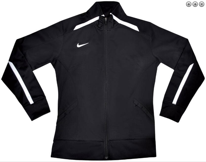 Nike Women s Team Overtime Jacket Black-White color scheme ef56a18296