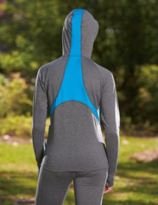 Augusta Ladies Freedom Pullover Hoodie back view picture