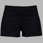 black fold over practice short