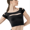 cap sleeve crop- black
