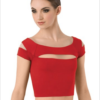 cap sleeve- red