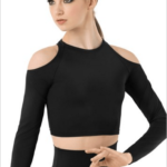 cold shoulder crop- black