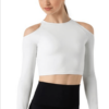 cold shoulder top- white