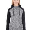 colorblock hoodie- black