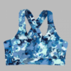 criss cross sports bra- blue horizen