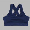 criss cross sports bra- navy