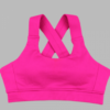 criss cross sports bra- pink
