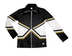 crossover jacket black gold