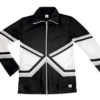 crossover jacket- black silver