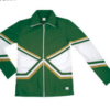 crossover jacket forest green gold