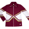 crossover jacket maroon gold