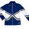crossover jacket navy gold