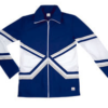 crossover jacket navy silver