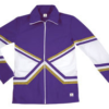 crossover jacket purple gold