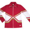crossover jacket red gold