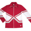 crossover jacket red silver
