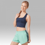elite shorts- mint and navy