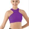 high neck halter- purple