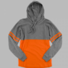 hooded pom pom- orange