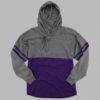 hooded pom pom- purple