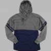 hooded pom-pom- navy