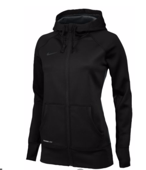 Nike Team Full Zip Up Hoodie - Black
