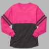 pom pom jersey- pink and black