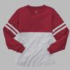 pom pom jersey- garnet and oxford