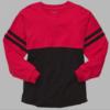 pom pom jersey- red black