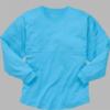pom pom jersey- electric blue