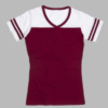 powder puff t- maroon
