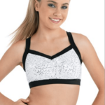 sequin bra -white