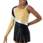 sequin dress -gold