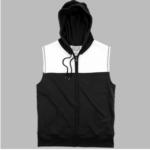 sleevless hoodie- black