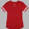 sporty v-neck slub- red