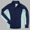 studio jacket- navy & mint