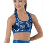 two way sequin bra top -Blue
