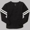v-slub jersey- black