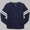 v-slub jersey- navy