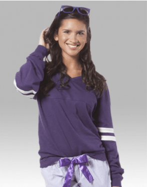 v-slub long sleeve- purple