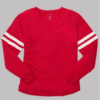 v slub jersey- red
