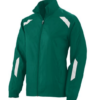 avail jacket-green white