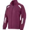 avail jacket-maroon white