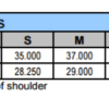 ladies jersey tee size chart