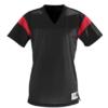 rally replica jersey- black red