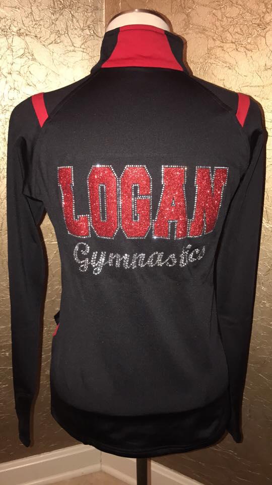 Logan Gymnastics custom rhinestone gymnastics jacket