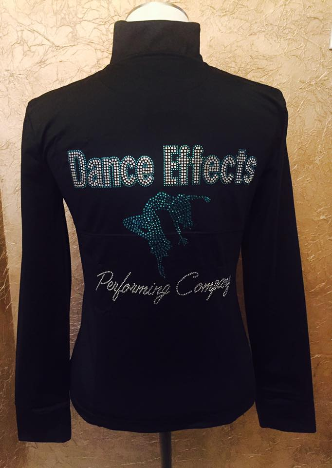 Dance Effects Performing company rhinestone jacket