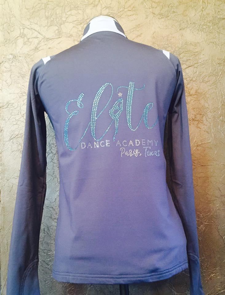 Elite Dance Academy of Paris, Tx custom rhinestone jacket